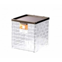Stylish Clear Square box Brown 430ml