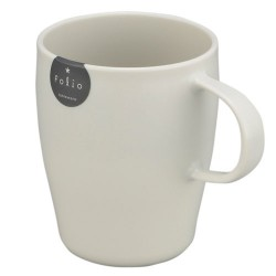 Plastic Mug with handle 340ml - White