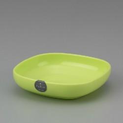 Plastic Square Plate 13cm - Green