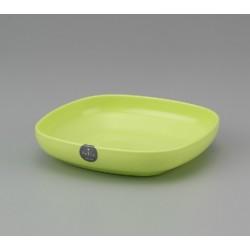 Plastic Square Plate 17cm - Green