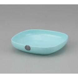 Plastic Square Plate 17cm - Blue
