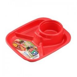 Barbecue dish corner red