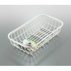 Drainer basket for sink white