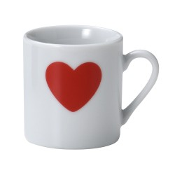 Mini Mug Heart print 90 ml