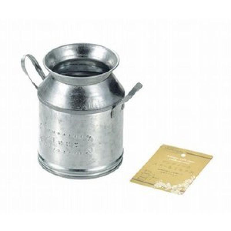 Antique steel milk can