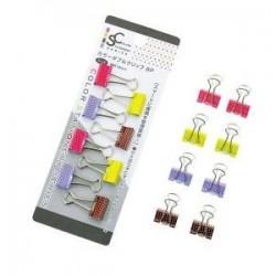 Stationery color double clip 8pcs