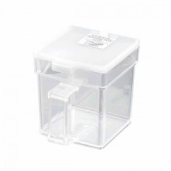 Square pot clear white 400 ml