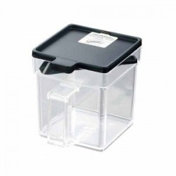 Square pot clear black 400 ml