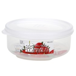 Plastic food container round clear 480ml