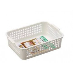 Basket Case shallow wide white