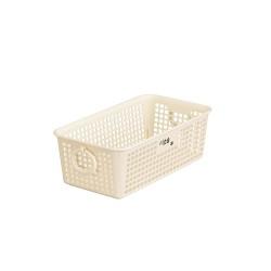Plastic Ring Basket Long Corner White