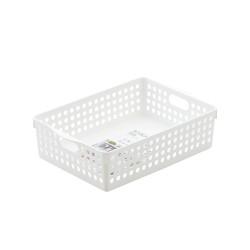 B5 basket shallow white