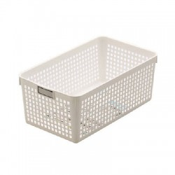 Basket Wide White