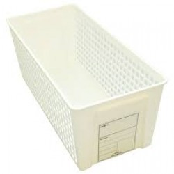 Trim basket slim white