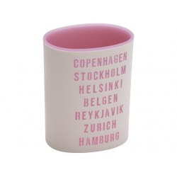 Urban stand circle clear pink