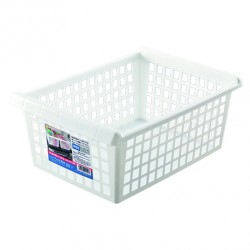 Arrange White basket wide no handle 243x343x142Hmm