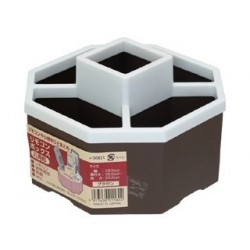 Remote control box octagon brown