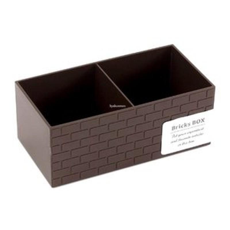 Brick type box brown