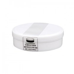 Circle box with lid white