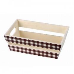 Wooden trapezoid box