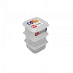 Clear Plastic Food Container E 200mLx3 , K141