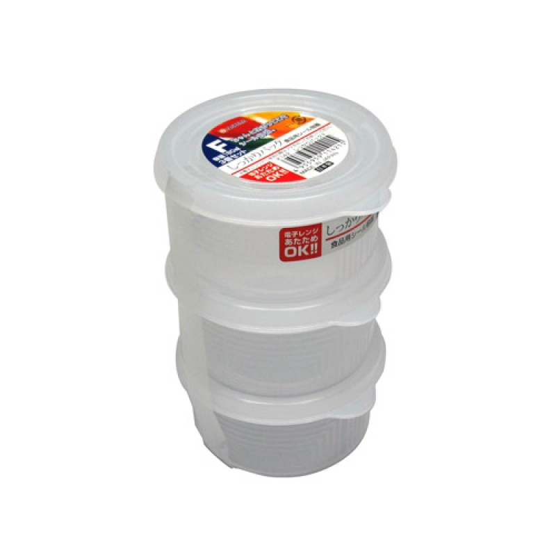 Clear Plastic Food Container F 180mLx3 , K142