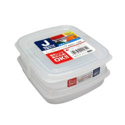 Clear Plastic Food Container J 400mLx2 , K153