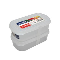 Clear Plastic Food Container N 300mLx2 , K169
