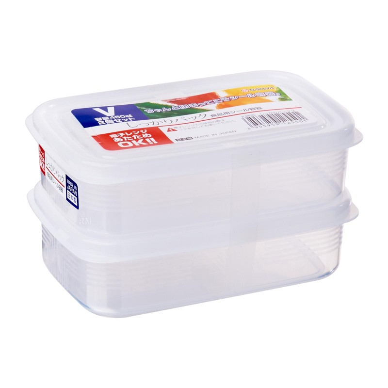 Clear Plastic Food Container V 450mLx2 , K255