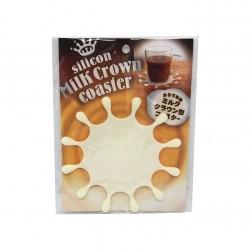 Silicone coaster milk crown design