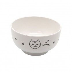Bowl White Cat 105xH57mm 300ml