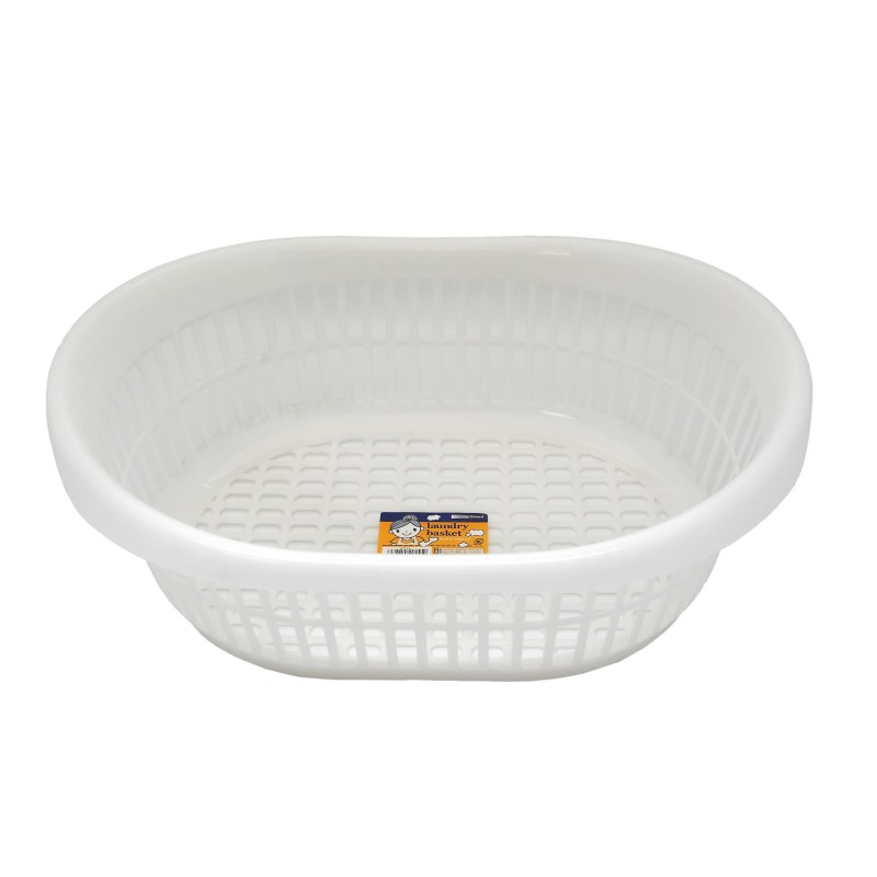 Laundry Basket Oval White