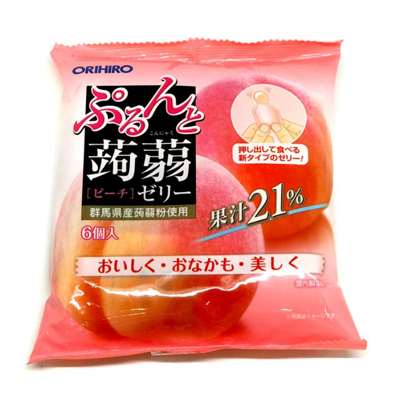 Orihiro Konjac Jelly Peach 6pcs